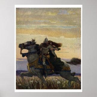 Vintage King Arthur Series 1 Art Print Poster