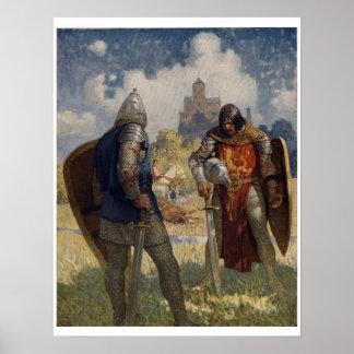 Vintage King Arthur Series 4 Art Print Poster