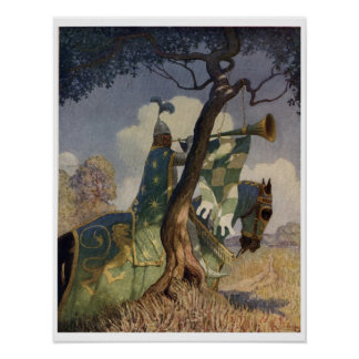 Vintage King Arthur Series 5 Art Print Poster