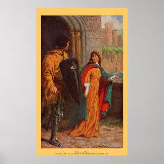 Vintage - King Arthur - Sir Brune and Damsel Poster