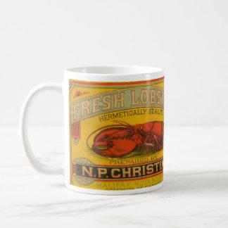 Vintage Kingfisher Brand Lobster Label Mug