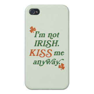 Vintage Kiss Me Anyway iPhone 4 Case