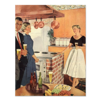 Vintage Kitchen, Beer, Appetizers Party Invitation
