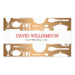 Vintage Kitchen Collage on Copper Chef, Catering Pack Of Standard Business Cards