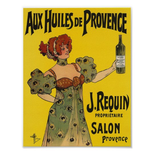 Vintage Kitchen Decor French Label Olive Oil