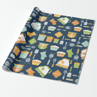 Vintage Kitchen Dishes Wrapping Paper