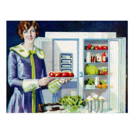 Vintage Kitsch 20s Refrigerator Fridge Icebox Postcard