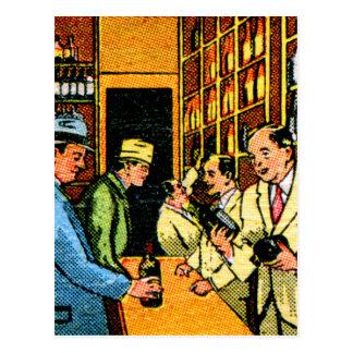 Vintage Kitsch 30s Booze Liquor Store Matchbook Postcard