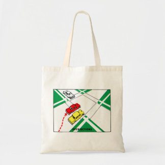 Vintage Kitsch 60s Drivers Ed Manual Intersections Canvas Bag