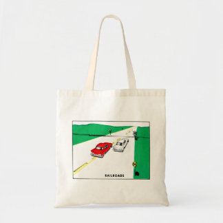 Vintage Kitsch 60s Drivers Ed Manual Train Cross Budget Tote Bag