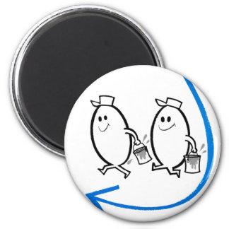 Vintage Kitsch Ad Cartoon Good Eggs Smile! 6 Cm Round Magnet