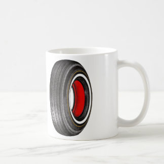 Vintage Kitsch Advertisement Tyre Tire Whitewall Mugs