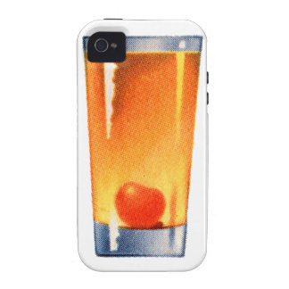 Vintage Kitsch Booze 60s Cocktail Whisky Sour iPhone 4/4S Case