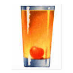 Vintage Kitsch Booze 60s Cocktail Whisky Sour Postcard