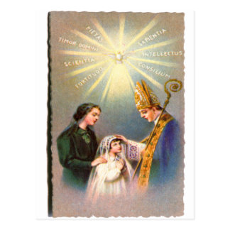 Vintage Kitsch Catholic Holy Card First Communion