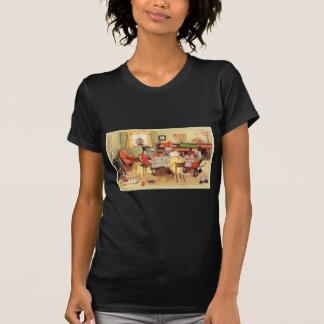 Vintage Kitsch Cats and Dogs Playing Cards Poker T-Shirt