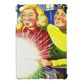 Vintage Kitsch Fireworks Sparklers and Kids Art iPad Mini Covers