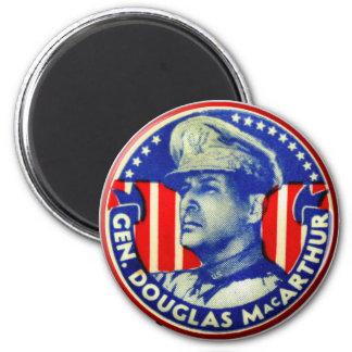Vintage Kitsch General Douglas MacArthur Button 6 Cm Round Magnet