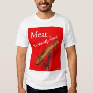 Vintage Kitsch Hot Dog 'Meat The Frankfurter' T Shirts