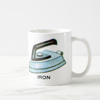 Vintage Kitsch Iron Ironing Illustration Classic White Coffee Mug