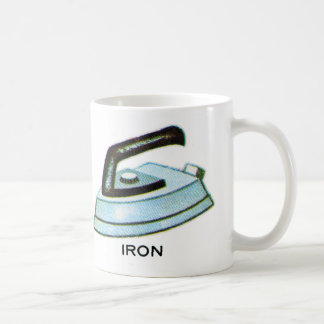 Vintage Kitsch Iron Ironing Illustration Coffee Mug