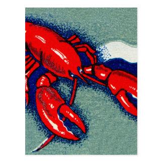 Vintage Kitsch Lobster Lobsters Matchbook Art Postcard