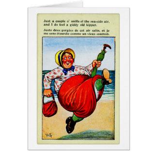 Vintage Kitsch Old Lady The Old Kipper Card