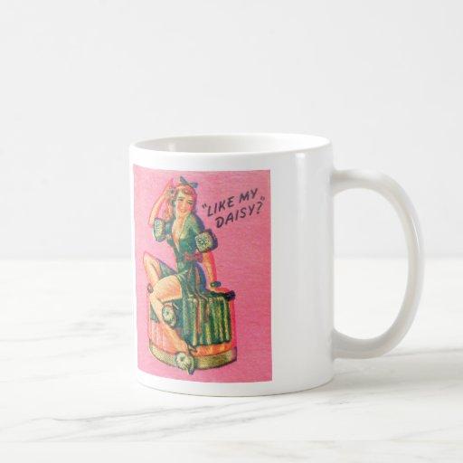 Vintage Kitsch Pin Up Like My Daisy Matchbook Mug