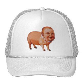Vintage Kitsch Pork Pig The Pig Boy Circus Freak Cap