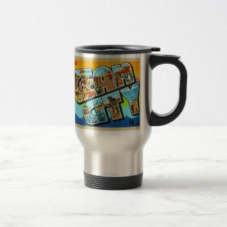 Vintage Kitsch Postcard Ocean City NJ New Jersey Coffee Mug