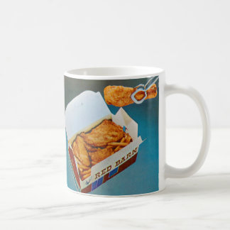 Vintage Kitsch Red Barn Fried Chicken Ad Art Coffee Mug
