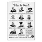 Vintage Kitsch Retro Beer Bier 'What is Beer' Ad Card
