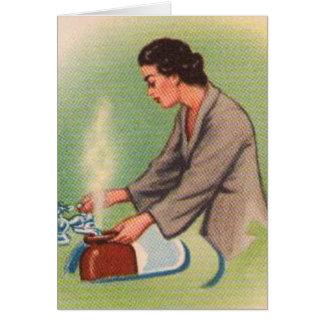 Vintage Kitsch Suburbs Housewife Tea Kettle Cards