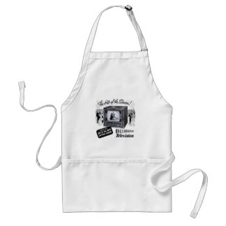 Vintage Kitsch Television B&W TV AD Apron