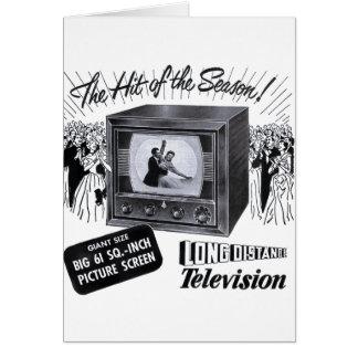 Vintage Kitsch Television B&W TV AD Card
