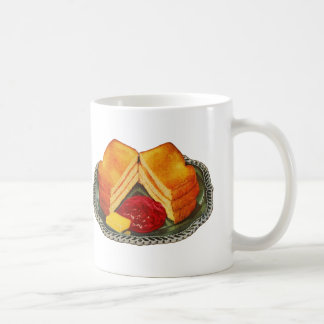 Vintage Kitsch Toast, Butter and Jam Advertisement Mug
