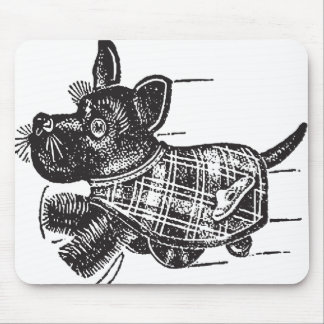Vintage Kitsch Toy Shaking Dog Scottie Mousepad