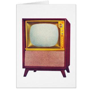 Vintage Kitsch TV Old Television Set Card