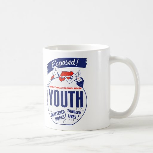 Vintage Kitsch Youth Exposed Tattered! Shattered! Coffee Mugs