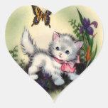 Vintage Kitten Sticker