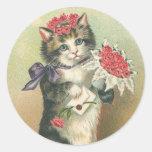 Vintage Kitten Stickers