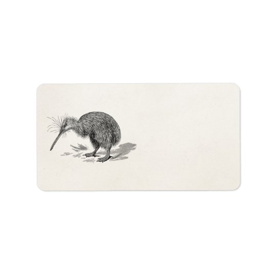 Vintage Kiwi Bird Antique Birds Template Label
