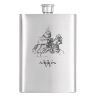 Vintage Knight Custom Flask