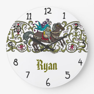 Vintage Knight Personalized Large Clock