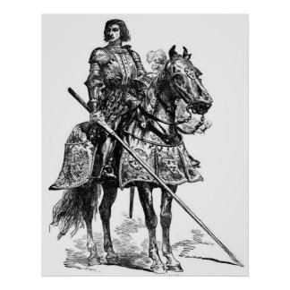 Vintage - Knight s Armour Lance - Middle Ages Posters