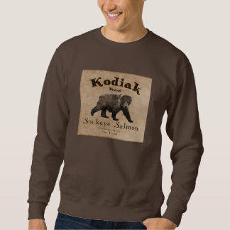 Vintage Kodiak Salmon Label Sweatshirt