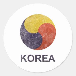 Vintage Korea Classic Round Sticker