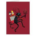 Vintage Krampus Christmas Card