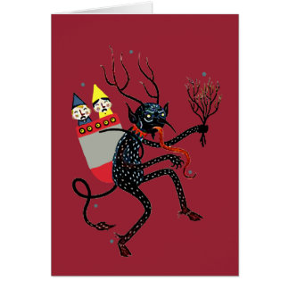 Vintage Krampus Christmas Card