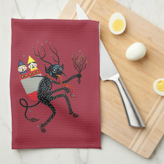Vintage Krampus Kitchen Towel